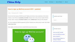 Wechat with facebook account up WeChat Official